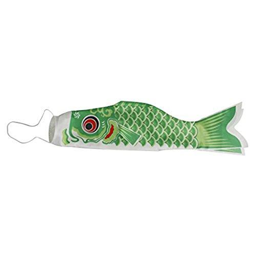 Pixnor Carpe japanischen Windsack 70cm Flagge Koi-Nobori Sailfish Fisch Wind Streamer grün - Flagge Streamer