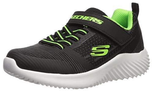 Skechers Boys' BOUNDER Trainers, Black Black & Blue Textile/Lime Trim Bblm, 12.5 31 EU