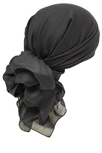 Deresina Headwear Frauenalltags Weiche Quadratisch Kopftücher (Black)
