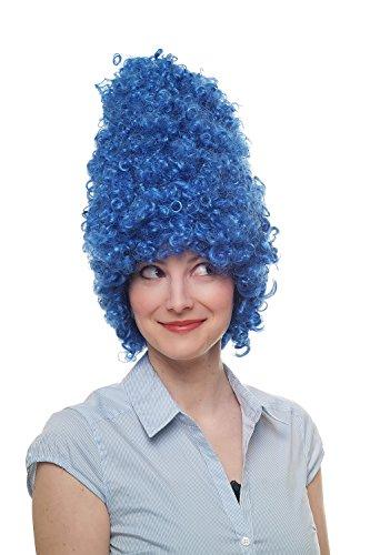 Fasching Karneval Halloween Perücke Beehive Wig Turmperücke Barock Drag Queen Blau 8648-C3