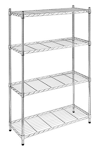 Whitmor 6060-322 Supreme 4-Tier Regal, Metall, Chrom, 4 -