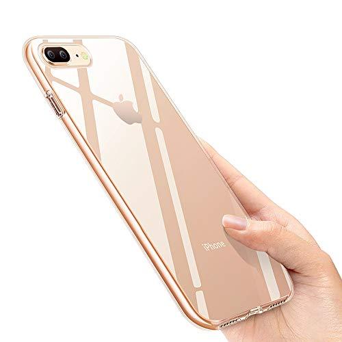 iPhone 8 Plus Handyhülle, iPhone 7 Plus Silikon Hülle, otumixx Crystal iPhone 8 Plus Hülle Ultra Dünn Anti-Shock Soft TPU Bumper Schutzhülle für iPhone 8 Plus / iPhone 7 Plus Case Cover, Transparent