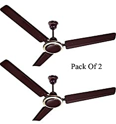 Candes Twistter 1200mm Ceiling Fan 48 Inch Glossy Brown Pack of 2