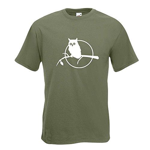 ... Farben - Herren Funshirt bedruckt Design Sprüche Spruch Motive Oberteil  Baumwolle Print Größe S M L XL XXL Olive. KIWISTAR - Eule auf einem Ast -  Owl on ...