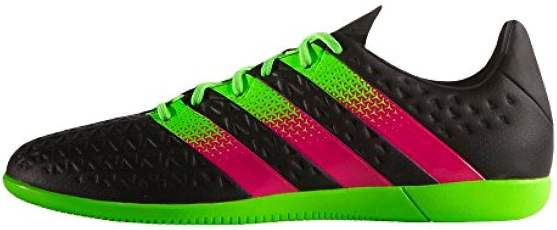 adidas Ace 16.3 en J – cblack/shopin/sgreen, schwarz grün pink (core black/sgreen/shock pink), 36