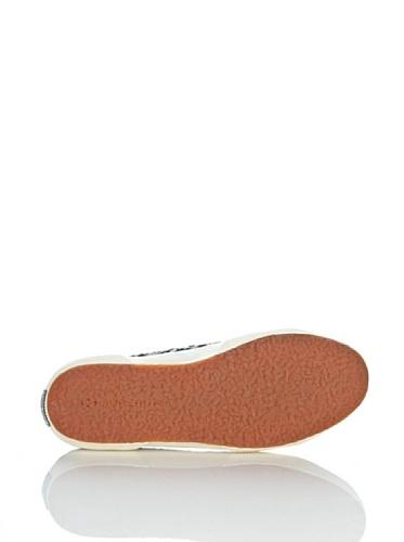 Chaussures Le Superga - 2750-fantasyw 3 Blanc - Noir/blanc