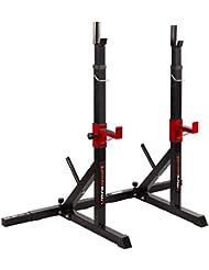 Ultrasport 331400000703 Soporte para pesas, Unisex adulto, Negro / Rojo, Única