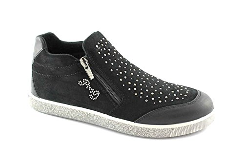 Primigi Sapatos 36/39 46121 Negros Miúdos Deslizamento Nas Sapatilhas Tipo Nero Zip