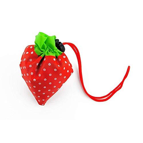 rawberry Faltbare Einkaufstasche Nylon-Einkaufseinkaufstasche Erweiterbare ECO Beutel (schwarz) ()