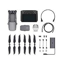 DJI CP.MA.00000011.01 Mavic 2 Pro (UK) Drone + Smart Remote Controller, Drone Combo Accessories, Bright Display 5.5 Inch, Aircraft, HDR Video, Hasselblad Camera, OcuSync 2.0 Full HD Video