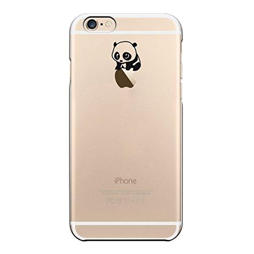 "licaso® iPhone TPU Hülle Disney Case transparent klare Schutzhülle Giraffe Hülle aus Silikon iphone6 Tasche Giraffen Case (iPhone 6 4,7"", Giraffe WTF?) Panda auf Apfel"