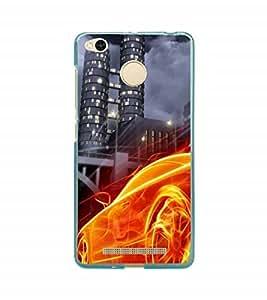 Fuson Designer Back Case Cover for Xiaomi Redmi 3 :: Xiaomi Redmi 3S :: Xiaomi Redmi Prime (Car Sports Car Orange car Stunning Car Stunning Sports Car)