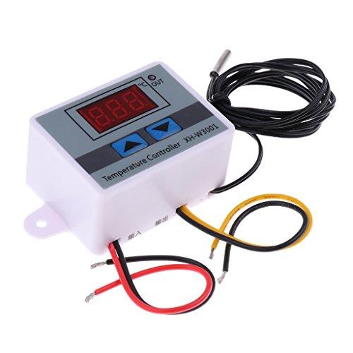 Homyl 12V/24V/220V Digitaler Temperaturregler Thermostat Heizung Kühlung Kalibrierung Steuerung über Sonde mit Sensor - 220V (Heizung Thermostat 24v)