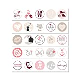 #detailverliebt 25 Hochzeits-Aufkleber I DV_084_rosa I Ø 3,6 cm I Rund Set Freudentränen-Sticker Hochzeits-Sticker Ges