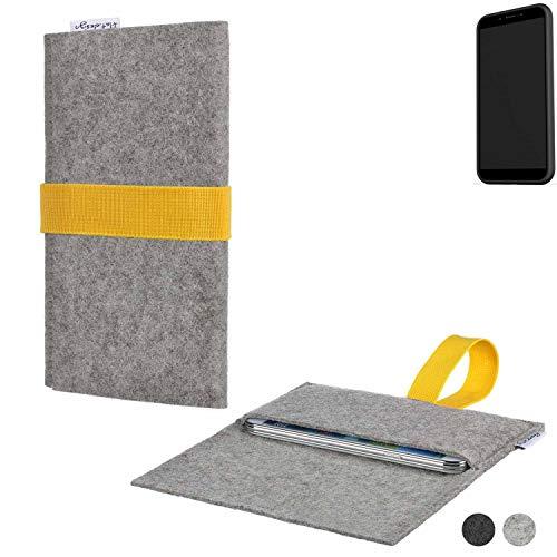 flat.design Handy Hülle Aveiro für Shift Shift6mq handgefertigte Filz Tasche Case Sleeve fair