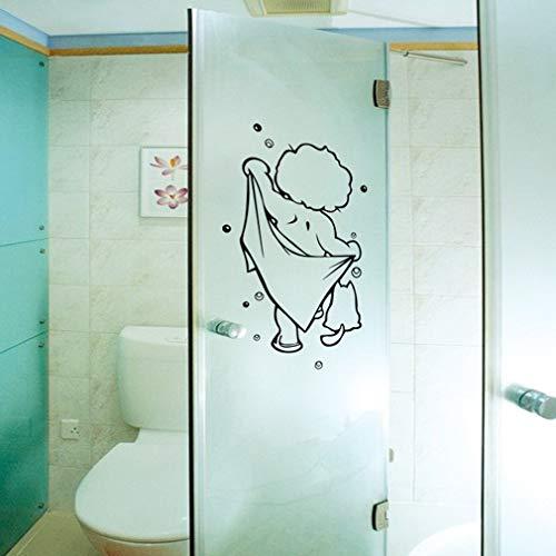 Wallpaper FANGQIAO SHOP Wandaufkleber, Neue Baby Dusche geschnitzt Badezimmer Wandtattoos Moderne dreidimensionale Kunst Aufkleber Dekor Wandaufkleber