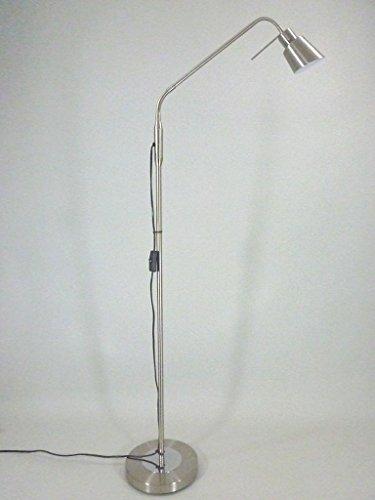 Bella-Vita Dapo LED Stehleuchte Leseleuchte Lena in Nickel mit Flexarm inklusive Leuchtmittel 6,5W Standlampe