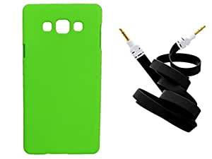 Toppings Hard Case Cover With Aux Cable For Samsung Galaxy A7 - Green