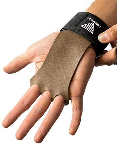 GORNATION® 2-in-1 Pull-Up Grips und Handgelenk-Bandage für den idealen Hand- und Gelenkschutz - Hand Grips, Handschuhe für Calisthenics, Turnen, Kraftsport, Bodybuilding