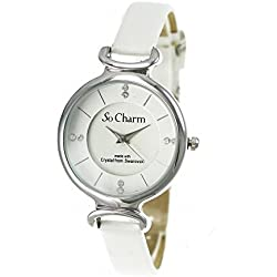 White So Charm Bracelet Ladies Watch Made with SWAROVSKI CRYSTAL from