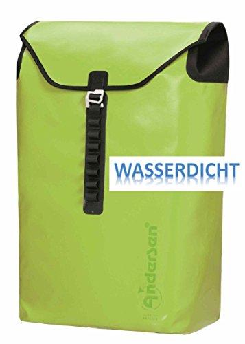 Andersen Tasche Ortlieb wasserdicht 50 x 39 x 23 cm für Einkaufstrolley Fahrradanhänger Limone - Grün