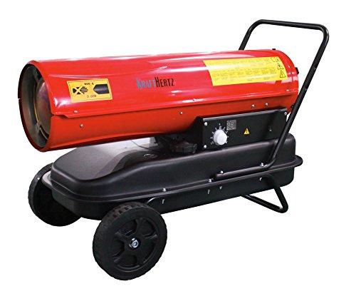 KraftHertz Diesel Heizgebläse * Dieselkanone * Hallen Heizung mit 30 kW – 720 m³/h Luftdurchsatz – 38 l Tank – elektrische Zündung – Thermostat