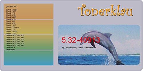 Preisvergleich Produktbild kompatibel Schriftband 5.32-40913 für: DYMO LabelPoint 250 als Ersatz für DYMO 40913
