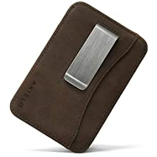 AKIELO RFID Blocking Card Holder with Money Clip and Gift Box – Compact and Slim Wallet – Minimalist Card Wallet (Charlie Collection)