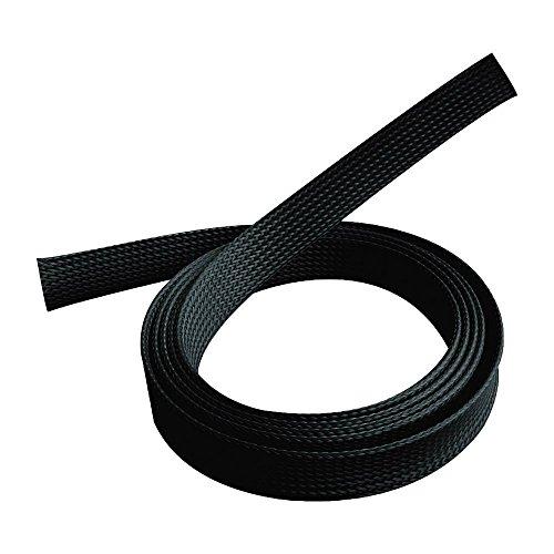 PureMounts PM-ZCCS-SOCKS-20B Universeller Polyester-Kabelschlauch, selbst zusammenziehend, Ø 20mm, 1,80m. schwarz