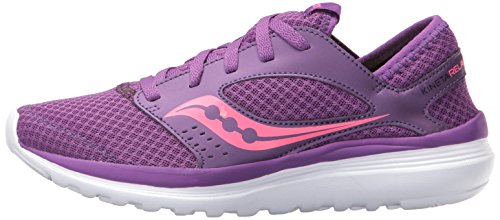 Saucony Women's Kineta Relay Road Running Shoe, Coral/Mint, 10 M US Purple/Pink