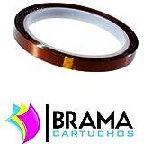 Bramacartuchos - 1 x Rollo de Cinta térmica adhesiva,0.06mm de ancho y 30m largo. Ideal para la sujeción del papel de sublimación a los distintos soportes antes de aplicarles el proceso de transferencia térmica.