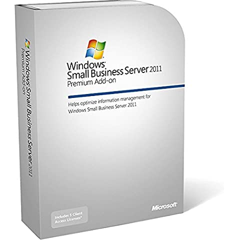 Microsoft Windows Small Business Server 2011 Premium - Sistemas operativos (PC, Complemento, DUT, Quad core 2 GHz 64-bit, - Microsoft Windows XP Professional Edition SP2 - Windows Vista Business + - Windows Mobile 6.0 +)
