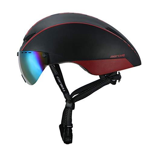 Helm Magnetische Rennradbrille Pneumatikhelm 5 Farben (Farbe : A)