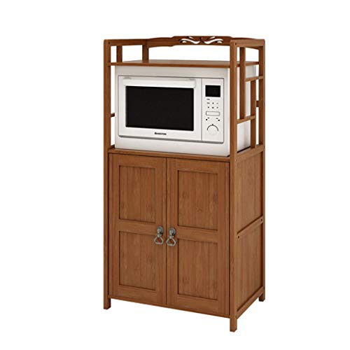 Midi- & Hochschränke Locker Küche Rack Ofen Schrank Mikrowelle Schrank Schließfach Rack (Color : Brown, Size : 60 * 38 * 118cm)
