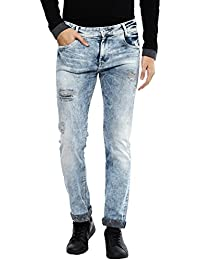 Mufti Mens Slim Fit Low Rise Jeans