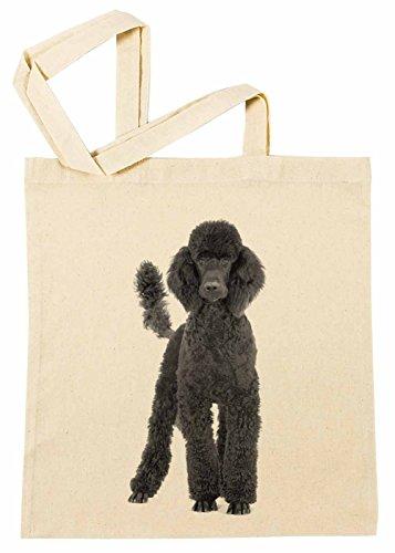 Kleider Pudel (Pudel Hund Rasse Einkaufstasche Wiederverwendbar Strand Baumwoll Shopping Bag Beach)
