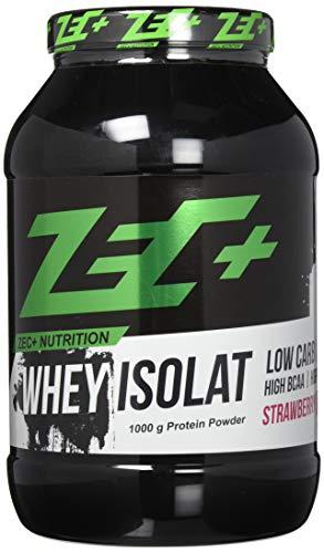 ZEC+ Whey Isolat - 1000 g, Molkenprotein Eiweißpulver, Geschmack Erdbeere