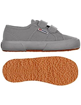 Superga 2750J - Zapatos de punta redonda de niñas con cierre de velcro
