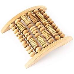 Tuuli Accessories Pied Masseur Massage Appareil Rouleau Bois Fasciite Plantaire 29x24,5 cm