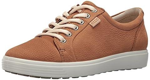 ECCO Women's Women's Soft 7 Fashion Sneaker, Cashmere, 8-8.5
