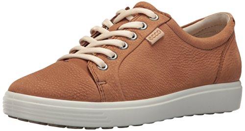 Ecco Damen Soft 7 Ladies Sneaker, Braun (Cashmere), 40 EU (Golf Schuhe Für Flache Füße)