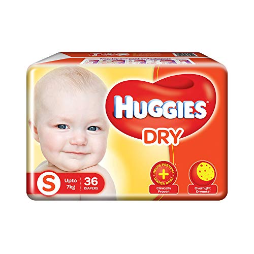 Huggies New Dry Diapers, Small  Pack of 36