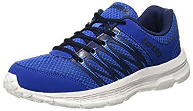 Lotto Men's Adriano White/R. Blue Running Shoes - 10 UK/India (44 EU)(AR4793-141)