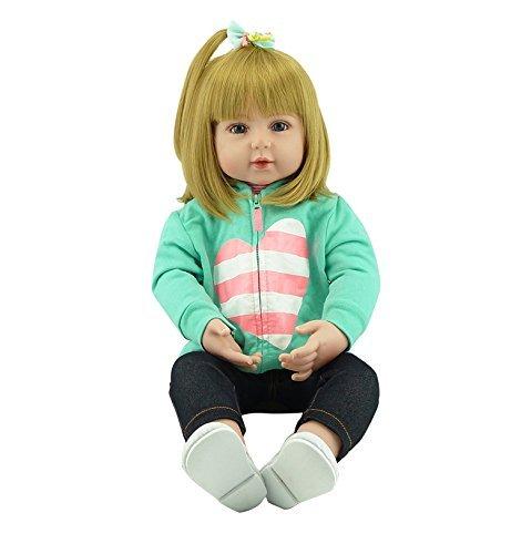 ZIYIUI Muñecas Reborn 19'' 48 cm Hecho a Mano Muñecos Reborn Bebé Realista Renacer Vinilo de Silicona Suave Toddler Babies magnética Boca Reborn Baby Doll Niña Niño Juguetes Regalo