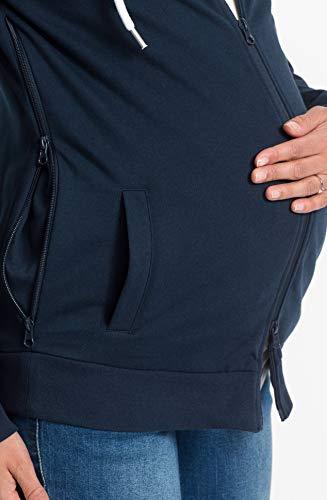 Umstands-Sweatjacke Schwangere Sweatshirtjacke mit Babytasche (40/42)