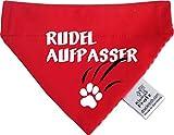 KLEINER FRATZ Hunde Durchzugstuch (Fb: Rot-Fuchsia/Rot) (Gr.S - 16 x 11 cm) Rudelaufpasser
