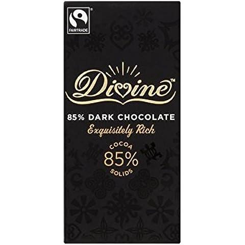 Divina 85% 100G Di Cioccolato Fondente - Confezione da 4 - Divina Bere Cioccolata