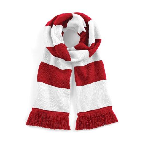 Beechfield Unisex Stadium Scarf Schal, Mehrfarbig (Classic Red/White 00), One size - White Plaid Schal
