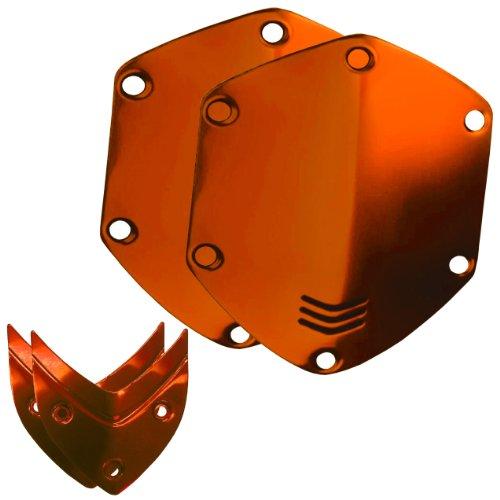 V-MODA Set di protezioni metalliche per cuffie Crossfade LP, LP2 e M-100 in metallo lucido, Arancione