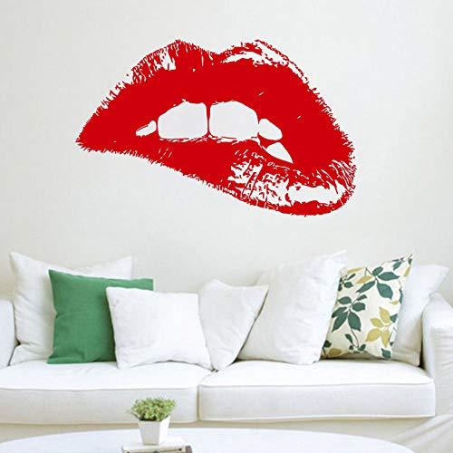 zqyjhkou Modernes Design Wandtattoo Mode Frau Hot Lips Vinyl Wandaufkleber Kunst Wohnkultur Schönheitssalon Schaufenster Ornament Wandbild Za258 56x89 cm